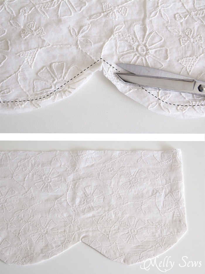 Step 2 - How to sew valances - tutorial for a scalloped valance - Melly Sews