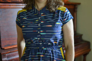 Marigold Dress sewing pattern by Blank Slate Patterns sewn by If Only They Would Nap