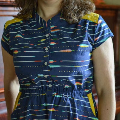 Marigold Dress with If Only They Would Nap – Blank Slate Sewing Team