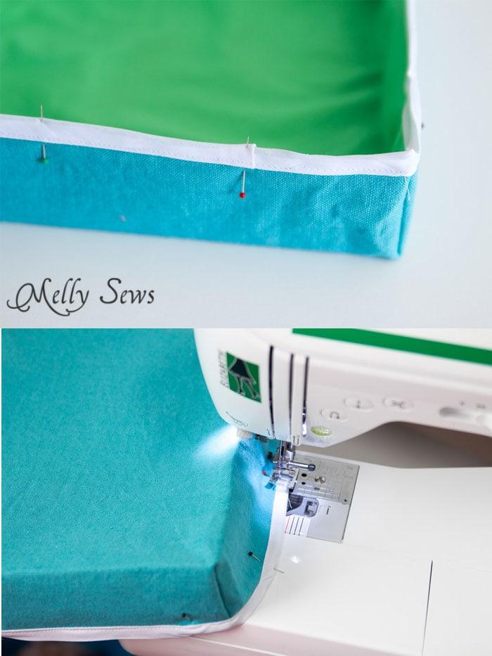 Step 6 - Sew a storage box - Melly Sews