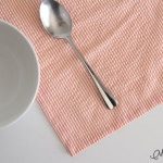 How to sew napkins with mitered corners - Melly Sews