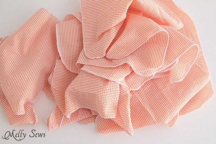 Rolled Hem cloth napkins - Melly Sews