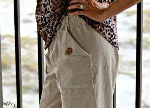Oceanside Pants pattern by Blank Slate Patterns sewn by sewVery