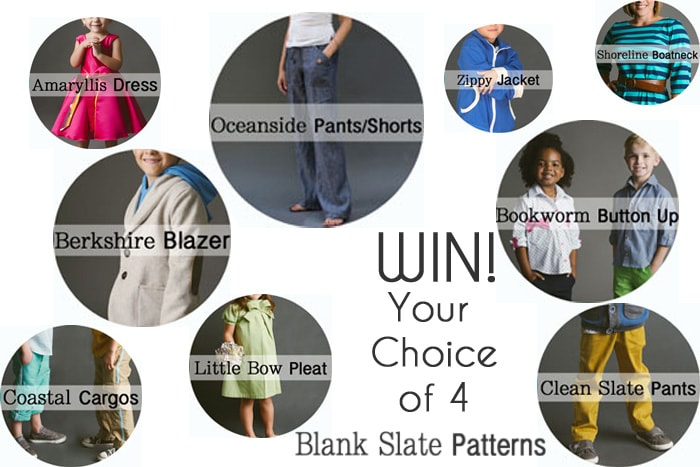 Win 4 Blank Slate Patterns - Sewing Patterns for modern women and kids