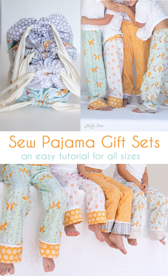 Sew Pajama Pants Gift Sets - Melly Sews