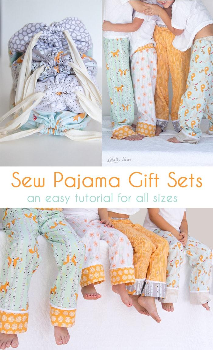 Sew Pajama Pants Gift Sets Melly Sews