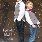 So cute - and easier than I thought! How to get twinkle light bokeh for holiday photos - Melly Sews