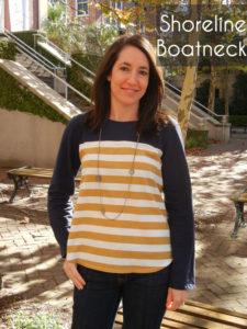 Shoreline Boatneck sewing pattern by Blank Slate Patterns sewn by Sew Charleston