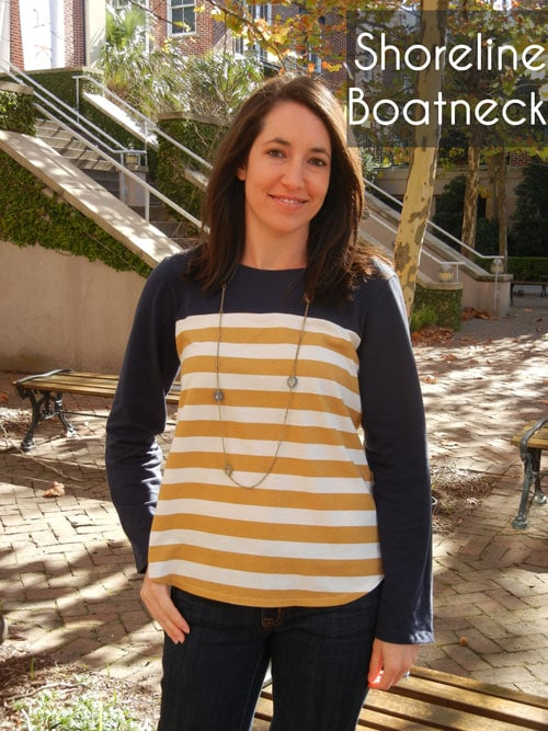 Shoreline Boatneck sewing pattern by Blank Slate Patterns sewn by Sew Charleston