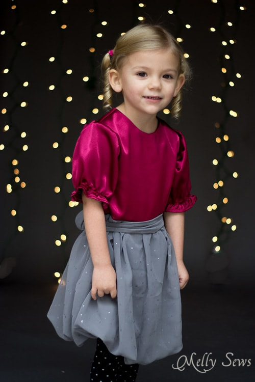 Darling and modern formal dress for girls - Melly Sews has a free pattern too!