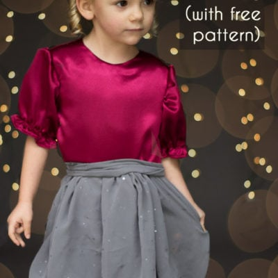 Christmas Dress Tutorial – with free pattern!