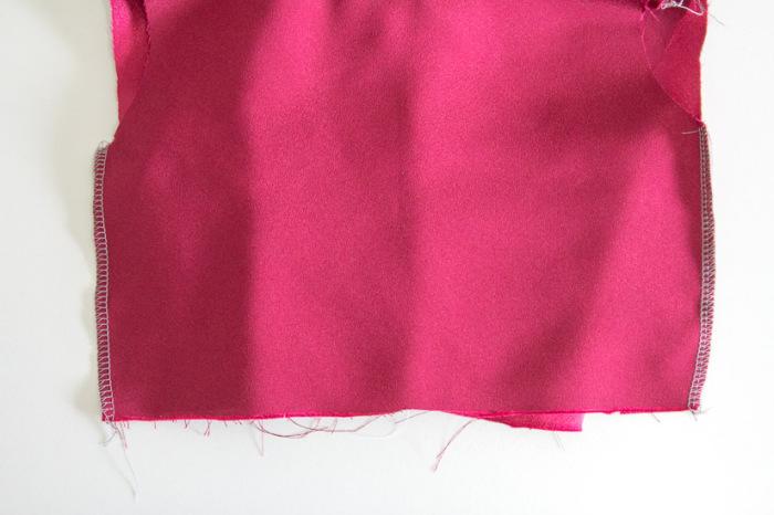 Sew side seams - Sew a Christmas dress - Melly Sews