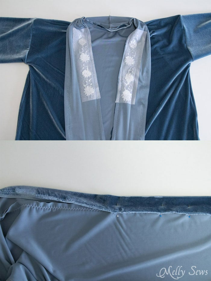 Step 6 - Sew a robe - This sumptuous robe can be made in any size from rectangles! Get the full tutorial at Melly Sews