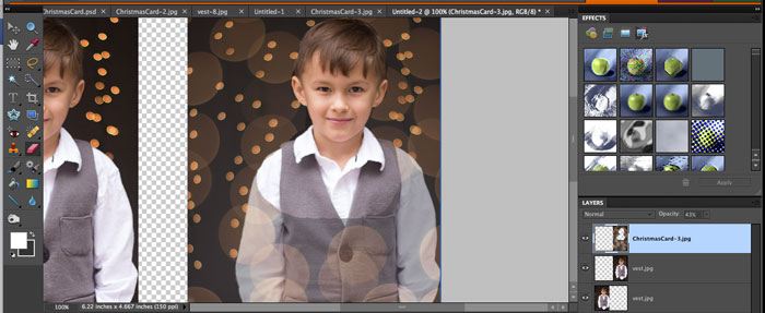 Erase over subject -  How to get twinkle light bokeh for holiday photos - Melly Sews
