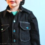 Bookworm Button Up with Boy, Oh Boy, Oh Boy – Blank Slate Sewing Team