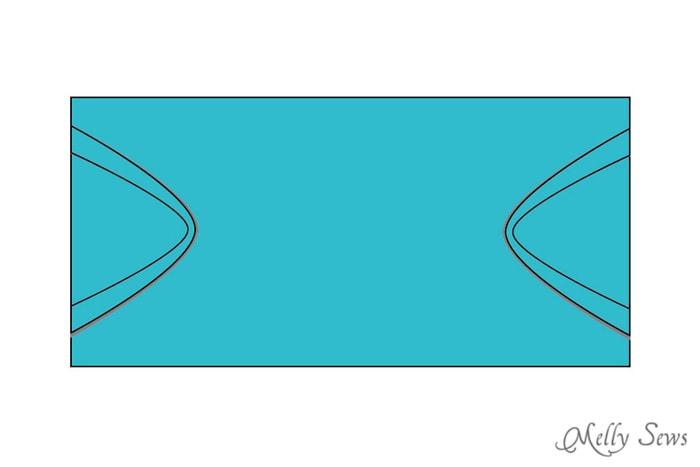 Step 2 - Snap Organizer Pocket Tutorial - Melly Sews