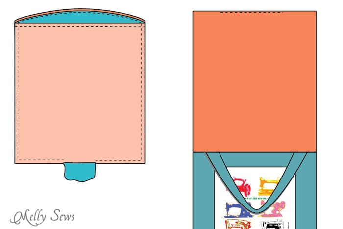Step 8 - Sew a tote bag - an EASY project for beginners - cute FREE printable graphic to add - Melly Sews