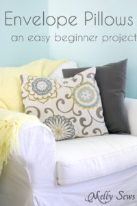 How to sew an Envelope Pillow Cover - an Easy beginner project - Learn to Sew with Melly Sews - Beginner Sewing Projects