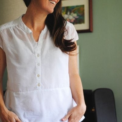 Marigold Peplum with Dandelion Drift – Blank Slate Sewing Team