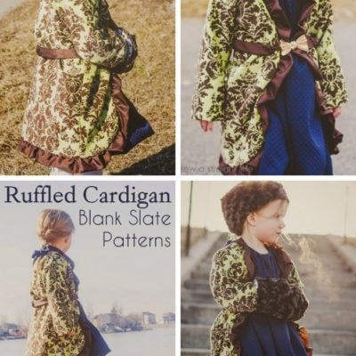 Ruffled Cardigan with Sew a Straight Line – Blank Slate Sewing Team