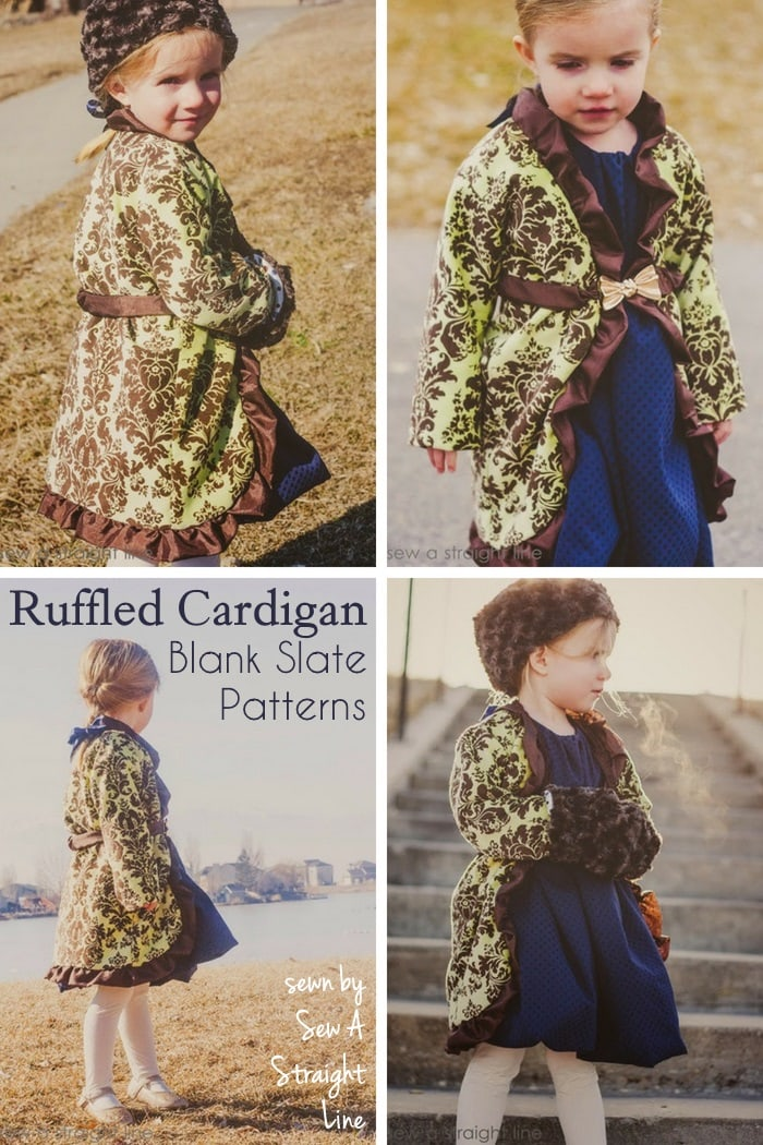 Ruffled Cardigan by Blank Slate Patterns sewn by Sew a Straight Line