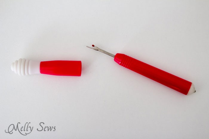 Seam Ripper - Read about the 5 Sewing Supplies Every Beginner Needs - Beginner Sewing Tools - Melly Sews