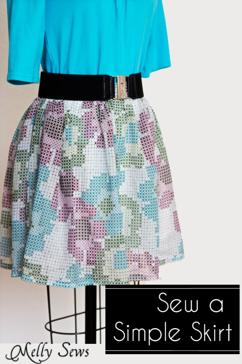 Sew A Skirt Easy Fast And Simple Skirt Tutorial Melly Sews