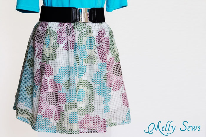 Sew a Simple Skirt Tutorial - Melly Sews