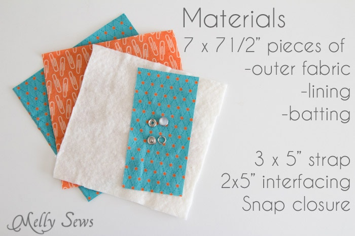 Materials - Snap Organizer Pocket Tutorial - Melly Sews