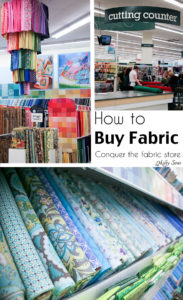 How to shop for fabric - how to buy fabric - a beginner's guid to conquering the fabric store - Melly Sews