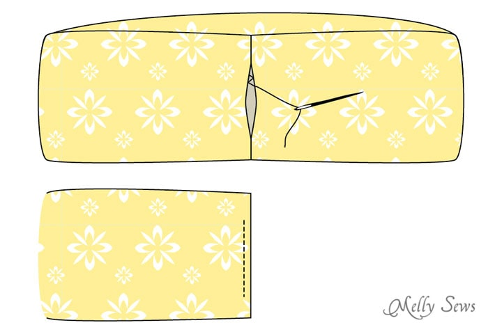 Close hole in scarf - How to sew an infinity scarf - Make an infinity scarf in just 3 steps! Perfect for a gifts or group craft projects - Melly Sews