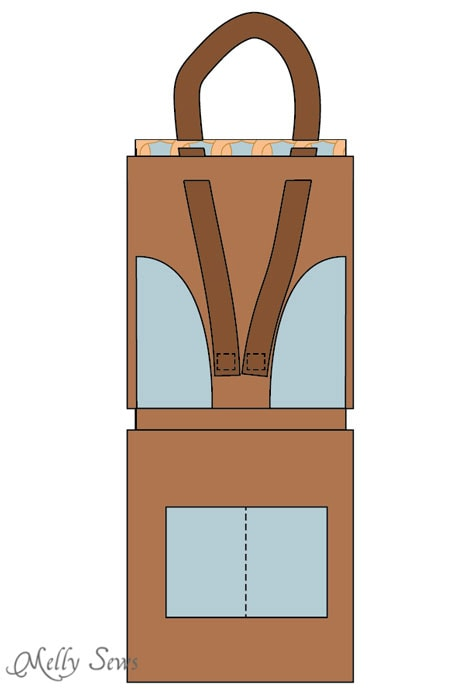 Step 6 - Sew a Leather Tote - Make a convertible leather tote bag that can be carried over the shoulder or backpack style - Melly Sews