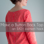 How to Make a Button Back Top – Shoreline Boatneck Pattern Hack