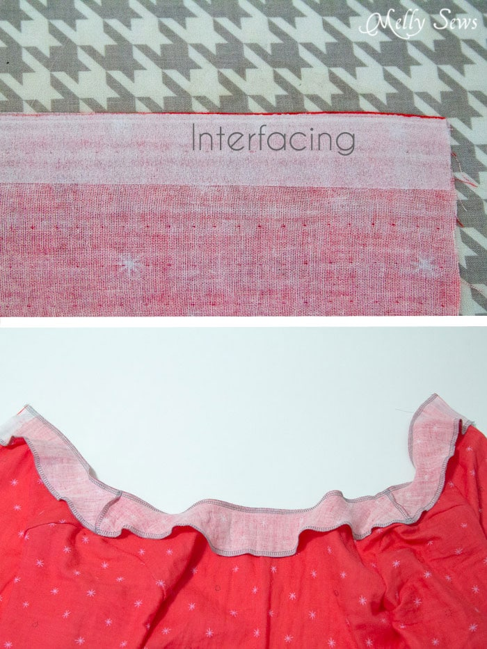Facings - How to Make a Button Back Top - Sew a top that buttons down the back with this tutorial from Melly Sews