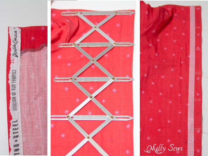 Button placket - How to Make a Button Back Top - Sew a top that buttons down the back with this tutorial from Melly Sews