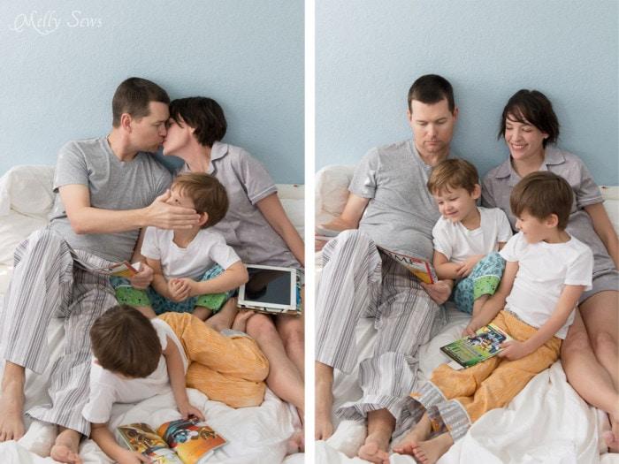 Family pajama photos - Melly Sews - Sew pajamas