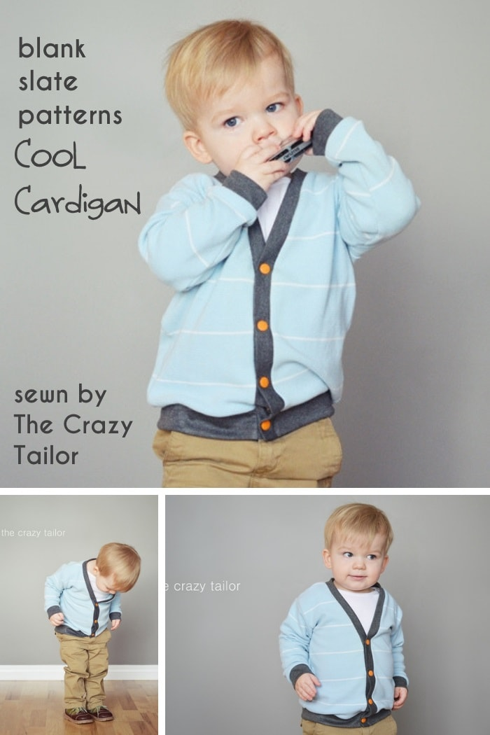 Cool Cardigan by Blank Slate Patterns sewn by The Crazy Tailor