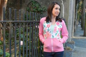 Zinnia Jacket by Blank Slate Patterns sewn by Sew Charleston - women's knit jacket sewing pattern