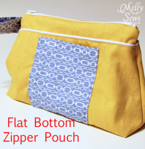Flat Bottom Zipper Pouch Tutorial