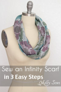 How to sew an infinity scarf - Make an infinity scarf in just 3 steps! Perfect for a gifts or group craft projects - Melly Sews