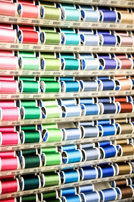 Threads - How to shop for fabric - how to buy fabric - a beginner's guid to conquering the fabric store - Melly Sews