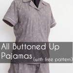 Sew a Ladies Pajama Top and shorts with FREE patterns (for a limited time) from Melly Sews