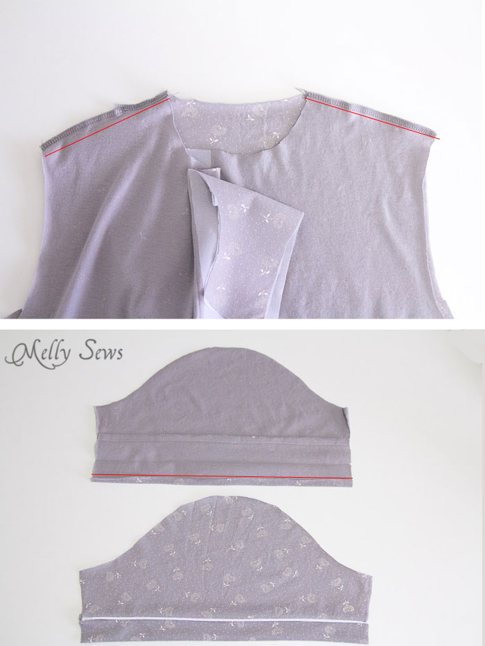 Step 2- Sew a Ladies Pajama Top and shorts with FREE patterns (for a limited time) from Melly Sews