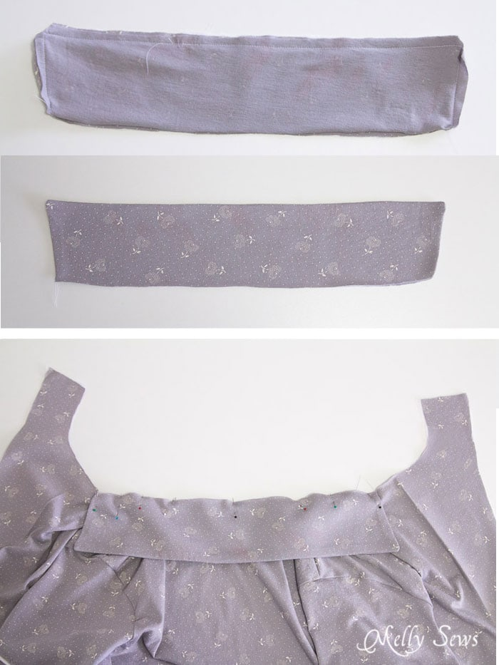 Step 4- Sew a Ladies Pajama Top and shorts with FREE patterns (for a limited time) from Melly Sews