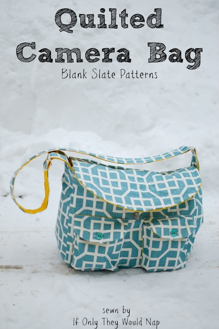 Quilted Camera Bag by Blank Slate Patterns sewn by If Only They Would Nap
