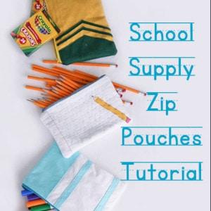 School Supply Zip Pouches
