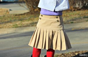 Schoolday Skirt by Blank Slate Patterns sewn by sewVery.