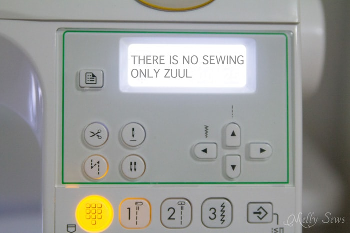 Sewing machine humor - if your sewing machine is doing this, it's time for a new one - Melly Sews