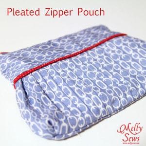 Pleated Zipper Pouch Tutorial