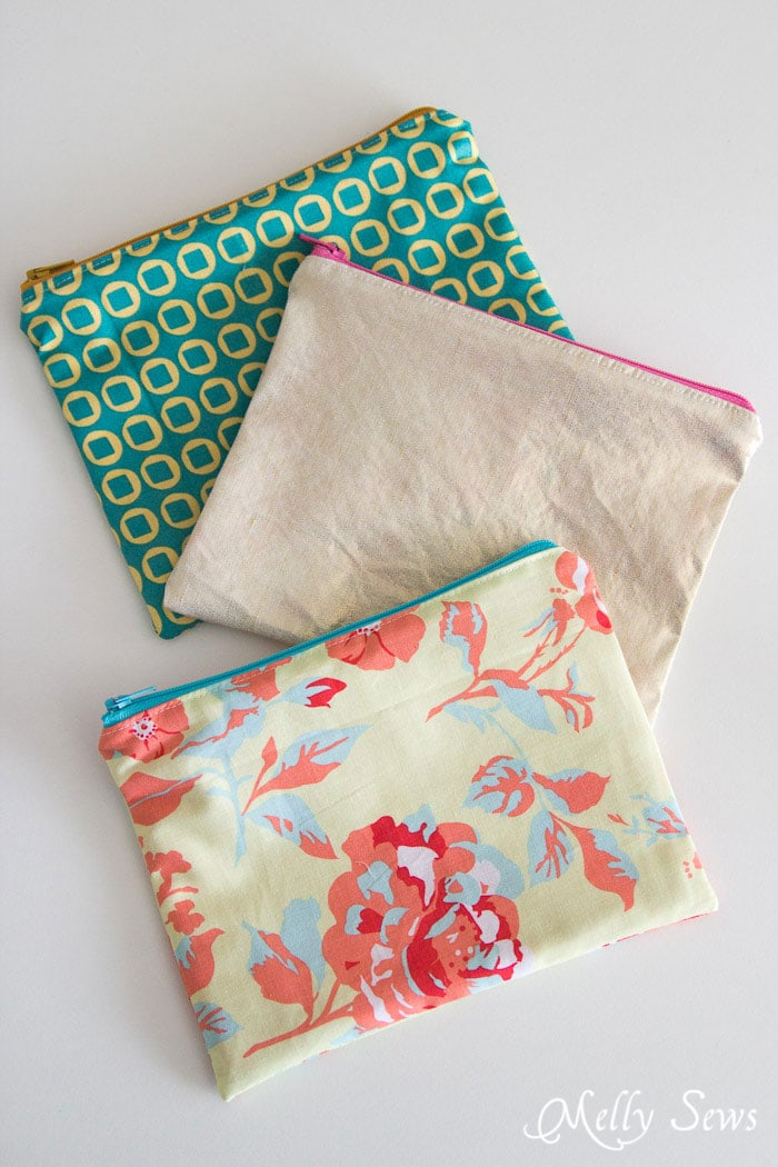 How to sew a zipper pouch tutorial melly sews - Rincon de costura ...